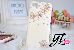 Handmade 3D sunflower daisy flower mobile phone case crystal Rhinestone bling Hard case Cover Samsung Galaxy S3 iphone 5 4s 4c