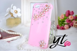 Handmade 3D sunflower daisy flower mobile phone case crystal Rhinestone bling Hard case Cover Samsung Galaxy S3 iphone 5 4s 4c