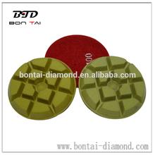 resin bond pucks/pads for concrete dry polishing