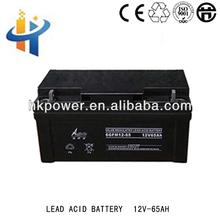 12V 65AH deep cycle rechargeable ups ,lead acid battery, Aokete solar gel battery