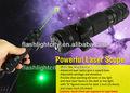 ajustable táctica punto verde mira láser caza rifle pistola pistola alcance ajustable carril se monta 1mw láser pluma