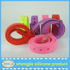 2014 new fashion colorful silicone belt/sports silicone belt/silicone rubber belt