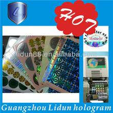 laser hologram shrink label/sticker(holographic)