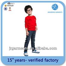 Factory sale Child's Cotton Raglan Contrast color long t shirts Wholesale