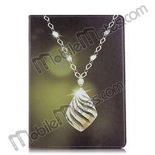 Shiny Rhombus Necklace Stand Leather Case for iPad Mini 2 Retina