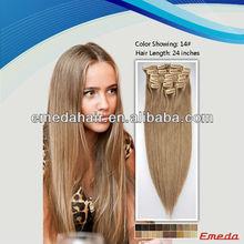 "Newly arrival 100% malaysian hair 10""-30"" superior virgin clip in hair extention"