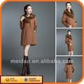 2014 dame de la mode pas cher hiver brun chine Faux manteaux de fourrure femmes