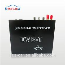 HD Digital TV Receiver Car MPEG-4 DVB-T with Dual Tuner, USB, PVR