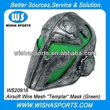 Green Knights Templar War Game Combat Mask