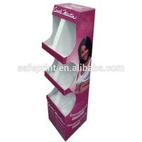 Beautiful design customized cardboard shelf wobbler display
