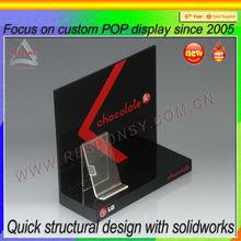 wood counter display holder pop custom cell phone holder for desk