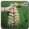 Alibaba china deep curly brazilian blonde virgin hair vendors