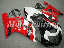 Fairing Kits for Suzuki GSXR600 GSXR750 K1 2000 2001 2002 2003 GSXR600 GSXR750 00 01 02 03 2000-2003 ABS red white