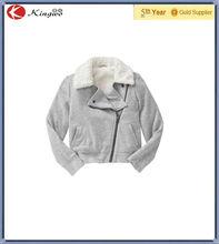 Kid Girl's Fleece Sherpa Lined motorcycle Cool Jacket / Coat For Children 's Wear