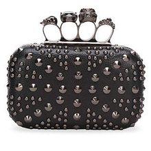 fashion very young models handbag clutch skull purse studded evening bags EB201