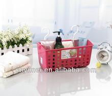 storage basket bathroom hanging basket , plastic bathroom basket