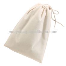 Promotional drawstring cotton Shoe Bag