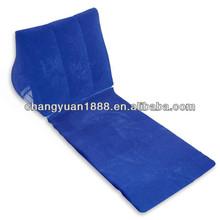 New design popular fashion cheap potable flocked inflatable wedge cushion