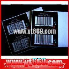 Supply Anti-fake barcode label sticker