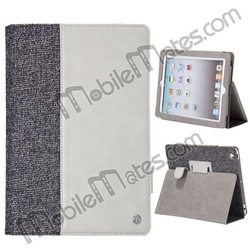 Kajsa Mixed Material Design Magnetic Flip Stand Leather Case for iPad 4 the New iPad iPad 2