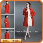 2014 Fashion Ladies Orange Red Wool Women Winter Coats Canada