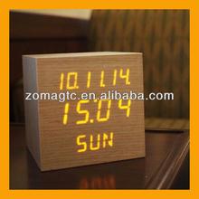 Modern LED Real Wooden Wood Digital Alarm Clock