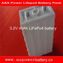 rechargeable prismatic Lifepo4 lithium-batterie 40Ah 3.2V