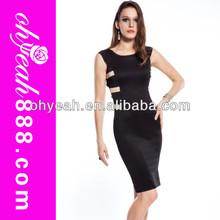Wholesale-Profession dress supplier sexy club dress club midi dress black sleeveless Back strap cross