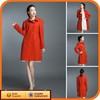 2014 Fashion Ladies China Cheap Wool Womens Beauty Orange Coats