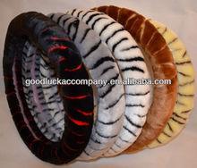 wool zebra car steering wheel cover
