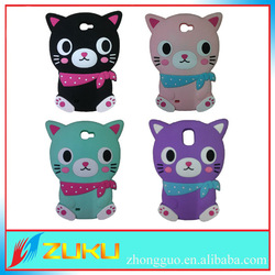 Popular silicone cat 3d cell phone case for iphone