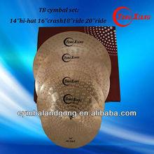 TB cymbal set 14hihat16crash18ride20ride colored