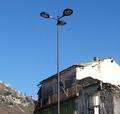 Q235 3m-30m residencial luz pólos