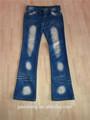 Atacado reciclado homens senhoras calça jeans usado