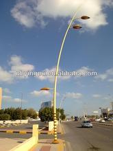 Q235 3.5m-30m height street lighting poles
