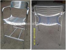 Fishbone Cast Aluminium Welding High Night Club Bar Chairs (YC023B)