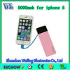 2014 High quality Integrity data line in Power Banks for iphone 5 2600mah universal portable power bank