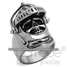 Wholesale halloween medieval knight costume skull ring designs
