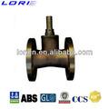 marina de bronce con bridas de la válvula del acelerador