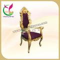 El gran elegante rey de oro y purpe corona silla YC-K01