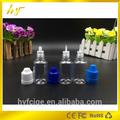 15ml e líquido botellas de plástico pet venta caliente con el niño a prueba a prueba de manipulaciones tapa con larga y delgada con cuentagotas
