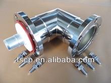 "3-1/8""EIA Flange Connector Adaptor (Reducer) Elbow Swivel"