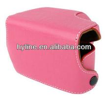 Elegant Digital Leather Camera Case Bag with Strap for Sony NEX-3N (Pink)
