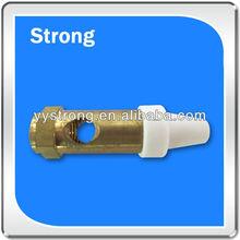 hot sale in 2013 cnc machining precision parts brass + plastic