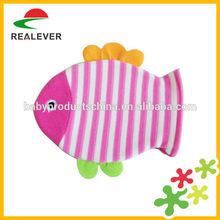 Animal design fish shape cartoon toy baby bath glove