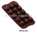 Copos 15 ferramentas de cozimento do silicone em forma de coração bolo de molde/chocolate molde