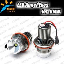 Auto Car Led Headlight 2*10W Cree Chips Led Angel Eyes Kits for e87 e39 e60 e61 e63 e64 e65 e66 e53 e83 x5 x3