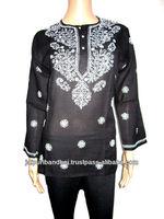 2014 Latest Designer Kurtis For Girls Handmade Embroidery Tops Kurti Tunic