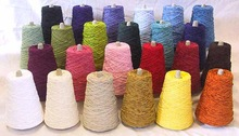 Polyester CHENILLE , acrylic, viscose and cotton viscose
