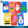 mobile phone accessories chrismas silicon cover case for iphone 4 4s